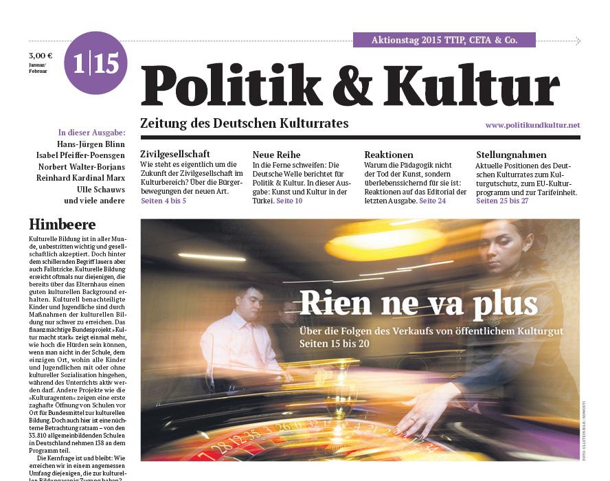 Politik & Kultur 01 2015