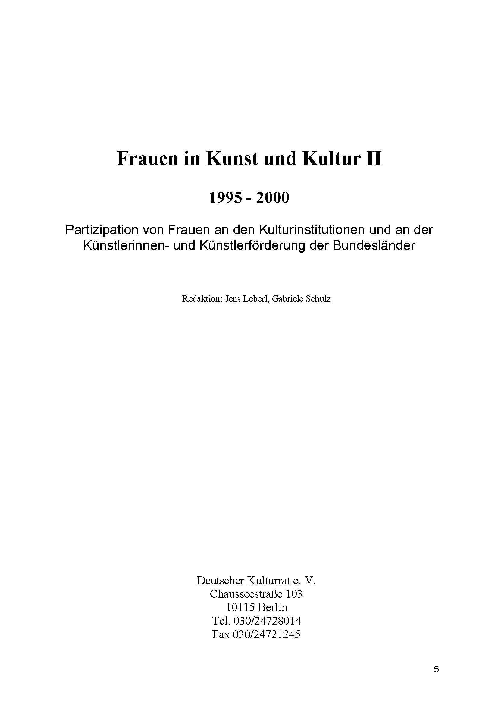 Frauen ins Kunst und Kultur 2 1995-2000
