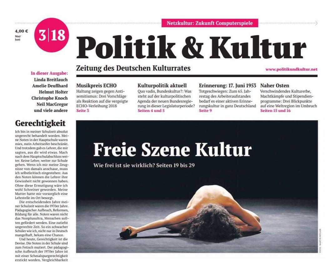 Ausgabe: Nr. 03/2018 | Deutscher Kulturrat
