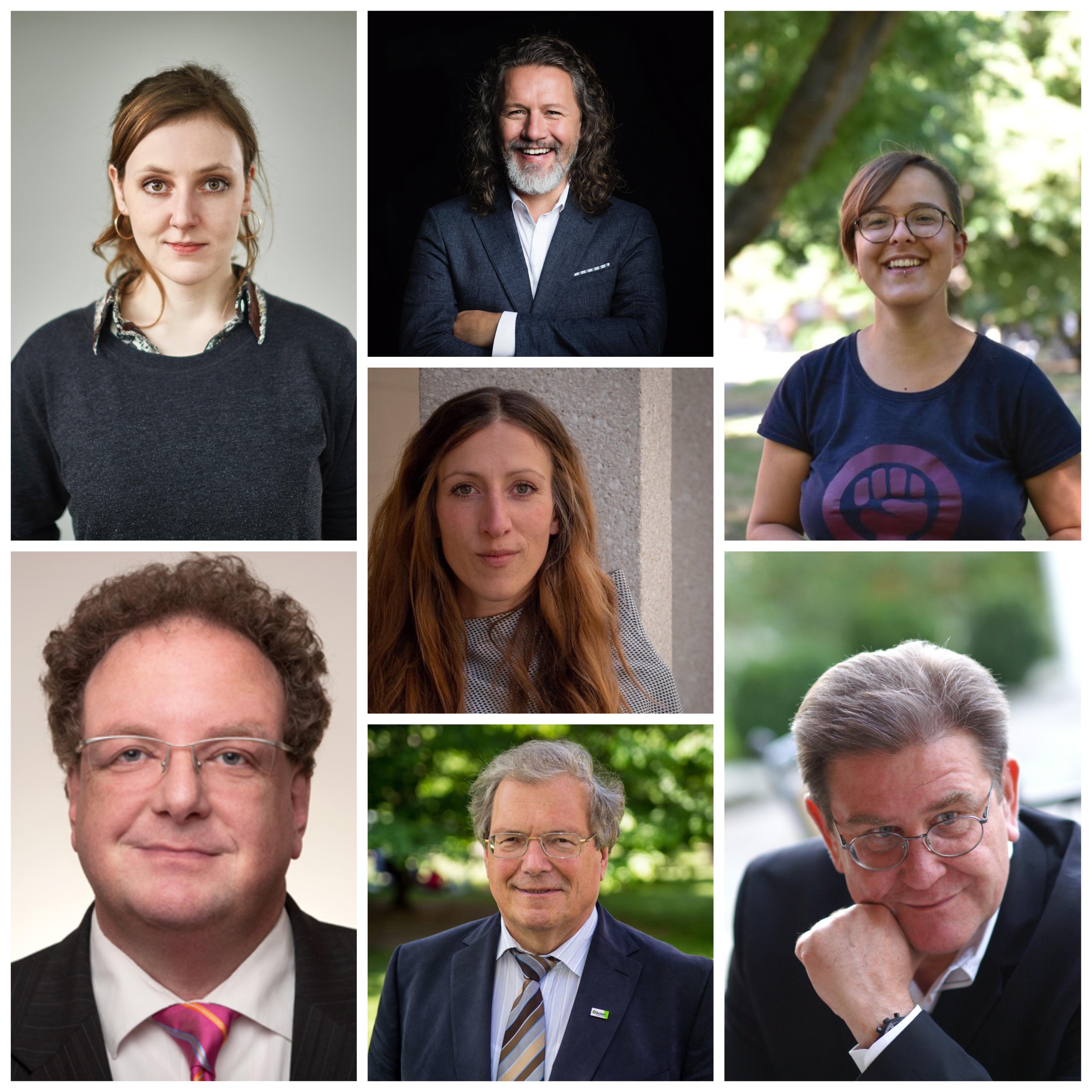 V.l.n.r.: Valerie Schönian, Mario Goldstein, Helene Helix Heyer, Simone Orgel, Olaf Zimmermann, Hubert Weiger, Theo Geißler
